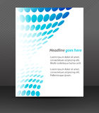 Professional business flyer template or corporate banner, cover design Royalty Free Stock Images