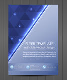 Professional business flyer template or corporate banner. Design for print, publishin, working presentation with place for your content or creative editing Royalty Free Stock Photos