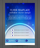 Professional business flyer template or corporate banner Royalty Free Stock Images