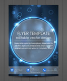 Professional business flyer template or corporate banner. Design for print, publishin, working presentation with place for your content or creative editing Stock Photography