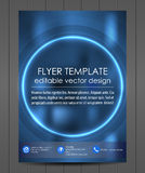 Professional business flyer template or corporate banner. Design for print, publishin, working presentation with place for your content or creative editing Royalty Free Stock Images