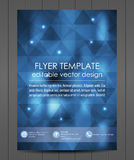 Professional business flyer template or corporate banner. Design for print, publishin, working presentation with place for your content or creative editing Royalty Free Stock Photography