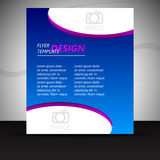 Professional business flyer template or corporate banner Stock Photo