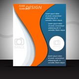 Professional business flyer template or corporate banner Royalty Free Stock Photo