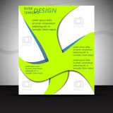 Professional business flyer template or corporate banner Royalty Free Stock Photos