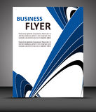 Professional business flyer template or corporate banner Stock Images