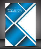 Professional business flyer template or corporate banner Stock Photos