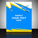 Professional business flyer template, cover design or corporate brochure Royalty Free Stock Photos