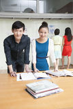 Professional Business People in Creative Office Stock Photo