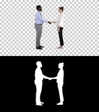 Professional business people handshaking, Alpha Channel stock photo
