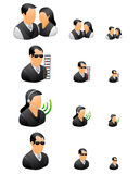 Professional business people icon set Stock Image