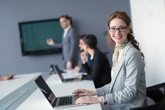 Professional business people working in business office. On project Royalty Free Stock Images