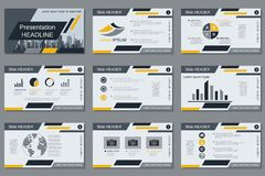 Professional business presentation, slide show vector template Royalty Free Stock Photo
