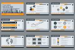 Professional business presentation, slide show vector template Royalty Free Stock Image