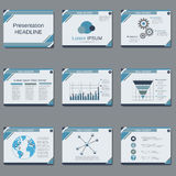 Professional business presentation, slide show vector template Stock Image