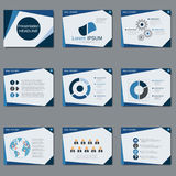 Professional business presentation, slide show vector template Stock Images
