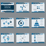 Professional business presentation, slide show vector template. Professional business presentation, slide show vector design template Stock Photography
