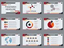 Professional business presentation, slide show vector template. Professional business presentation, slide show vector design template Stock Photos