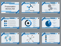 Professional business presentation, slide show vector template. Professional business presentation, slide show vector design template Stock Image