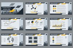 Professional business presentation, slide show vector template Stock Photos