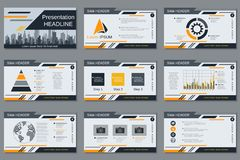 Professional business presentation, slide show vector template Stock Photo