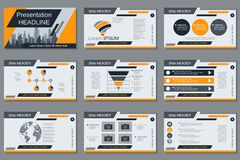 Professional business presentation, slide show vector template Royalty Free Stock Photography