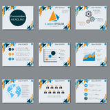 Professional business presentation vector design template Royalty Free Stock Photos