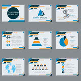 Professional business presentation vector design template Royalty Free Stock Images