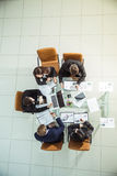 Professional business team creates a marketing plan for the workplace Stock Photos