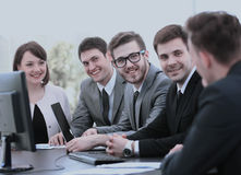 Professional business team at the meeting discussing the financi Royalty Free Stock Photography