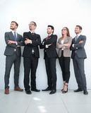 Professional business team photo in full growth. Portrait in full growth. team of young business people stock images