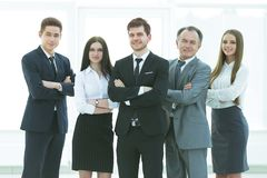 Professional business team.photo in full growth. photo with place for text. Professional business team.photo in full growth royalty free stock image