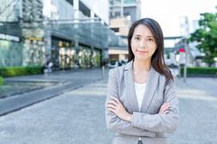 Professional business woman. Asian young pretty woman at outdoor Stock Images