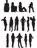 Professional Business Women Silhouettes Stock Photos