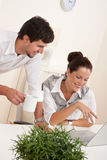 Professional businessman and businesswoman Stock Image