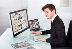 Professional businessman at work Royalty Free Stock Photography