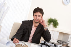 Professional businessman working at office Stock Image