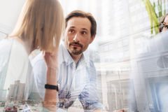 Professional businesspeople having a group discussion Stock Image