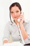 Professional businesswoman attractive calling Royalty Free Stock Photography