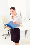 Professional businesswoman attractive look folder Stock Photo