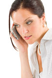 Professional businesswoman attractive on phone Royalty Free Stock Photography