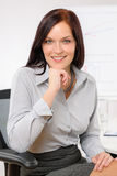 Professional businesswoman attractive smiling Stock Photo