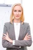 Professional businesswoman being busy at work Stock Photos