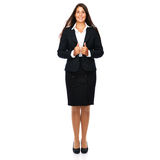 Professional businesswoman. Business woman full length isolated on white background Royalty Free Stock Photo