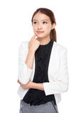 Professional businesswoman think of idea Royalty Free Stock Photo