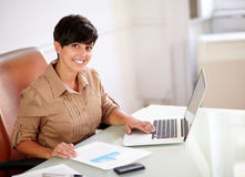 Professional businesswoman working at the office Stock Photo