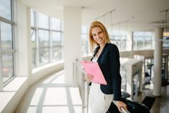 Professional businesswomen working at office. Professional busy businesswomen working at office stock image