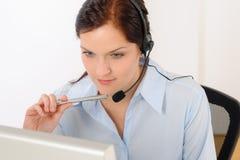 Professional call center representative woman Stock Images