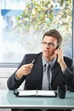 Professional on call taking notes Stock Images