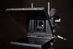 Professional camcorder. In the studio Royalty Free Stock Images